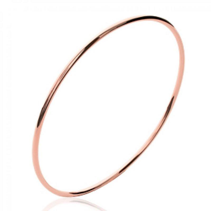 Armband largeur 2mm Vergoldet 18k Rose - Damen - 66mm