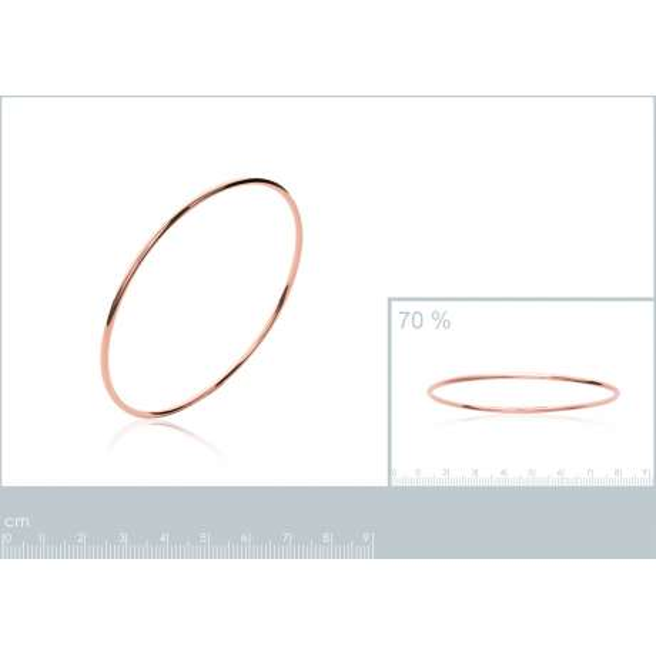 Jonc largeur 2mm Plaqué Or Rose - Femme - 66mm