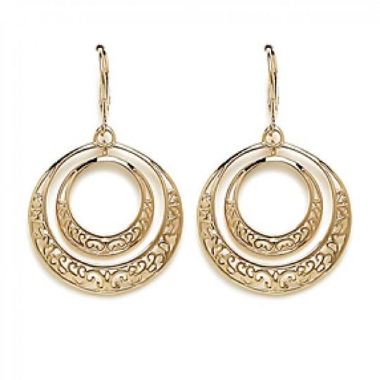 Earrings Lacework Anneaux Arabesques Gold plated 18k