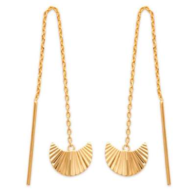 Earrings Éclipses Rayons de soleil Reflets Gold plated 18k