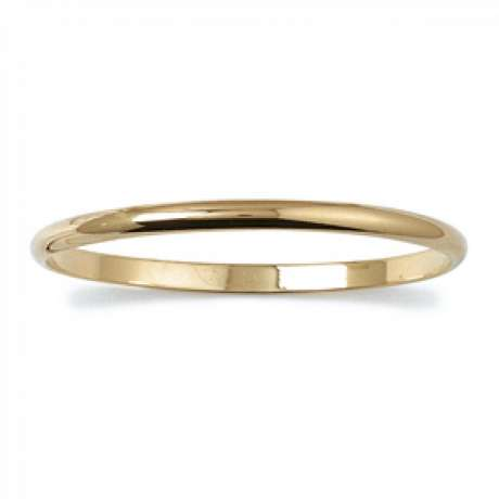 Demi-Bracciale Bangle épais 4mm Placcato in oro 18k - Donna - 66mm