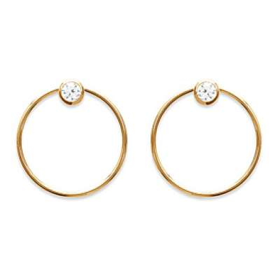 Earrings Anneau derrière l'oreille Gold plated 18k -...