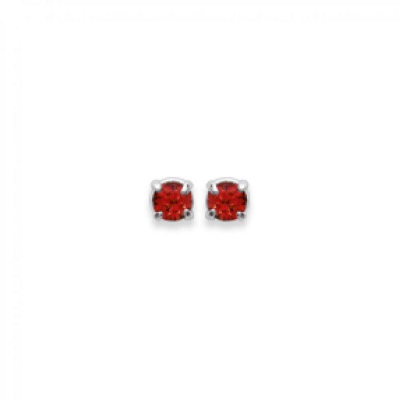 boucle d'oreille pierre rouge