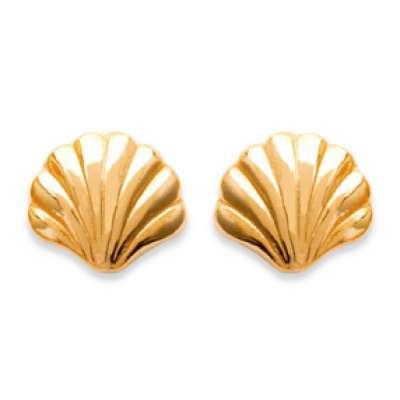 Earrings puces Coquillage Gold plated 18k - Women