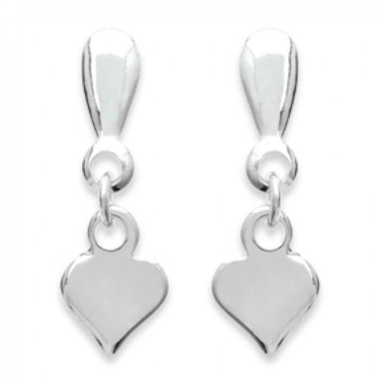 Earrings Heart   Argent - Women