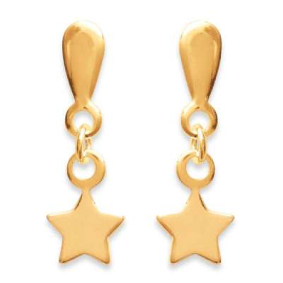 Earrings Stars  Gold plated 18k - Women
