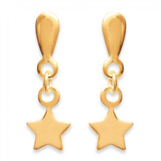 Orecchini Stella pendenti Placcato in oro 18k - Donna