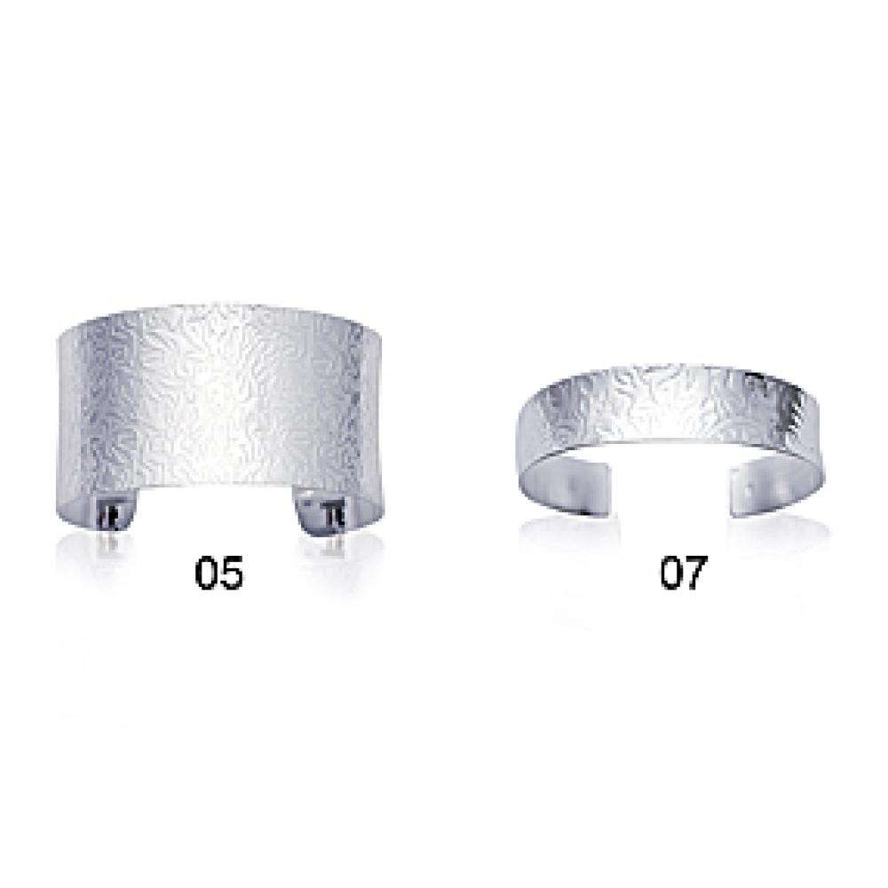 Bangle Rhodium plated Sterling Silver - Women - 5mm