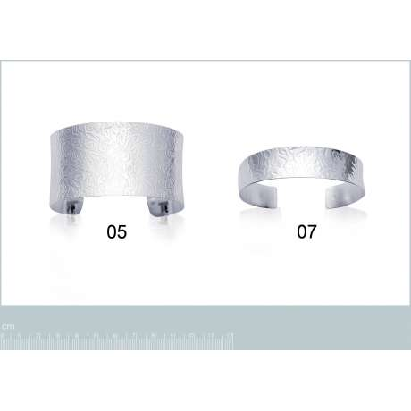 Bracciale Bangle Argento Sterling 925 Rodiato - Donna - 5mm