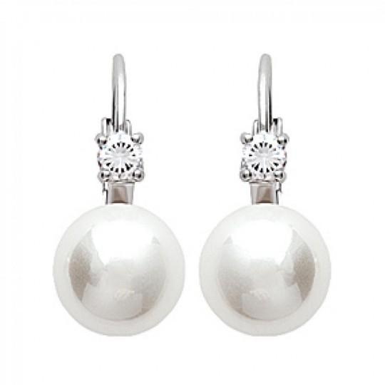 Dormeuses Perle Bleich Argent Rhodié - Perle - Damen