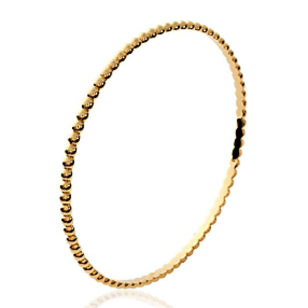 Demi-Bangle Balls Gold plated 18k - Women - 60mm