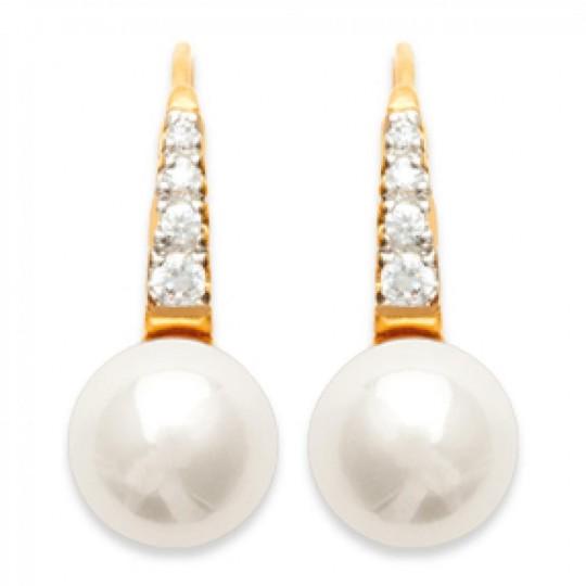 Dormeuses Perline d'imitation Placcato in oro 18k - Perla - Donna
