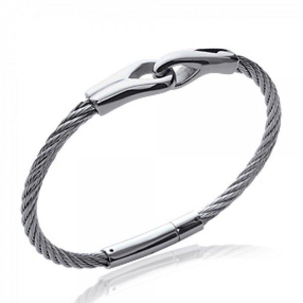 Bracelet Câble Acier 316L - Femme - 66mm
