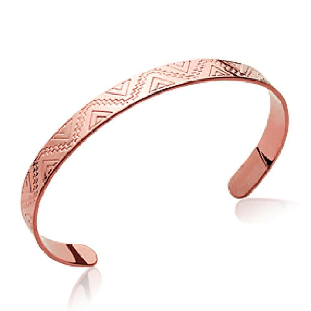 Bangle Aztèque Maya Gold plated 18k Rose - Women - 54mm