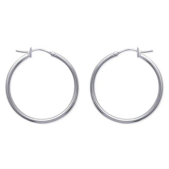 Hoop Earrings Traditionnelles 30mm Acier 316L - Women