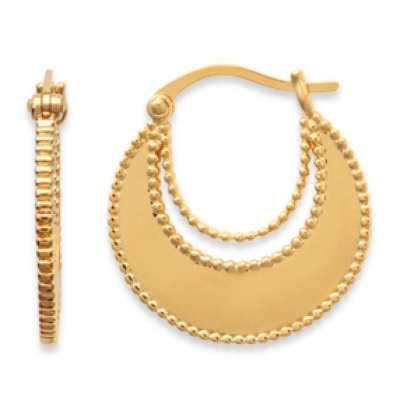Hoop Earrings Savoyardes 20mm Gold plated 18k - Boucles...