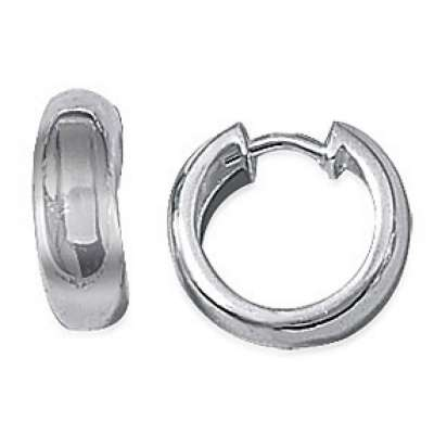 Hoop Earrings épaisses Argent Rhodié 15mm - Women