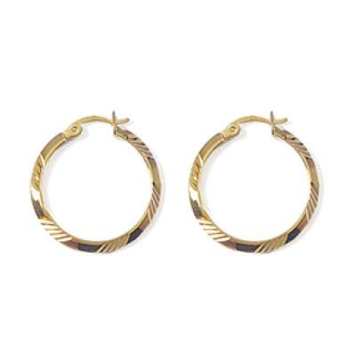 Hoop Earrings Martelées Gold plated 18k 25mm