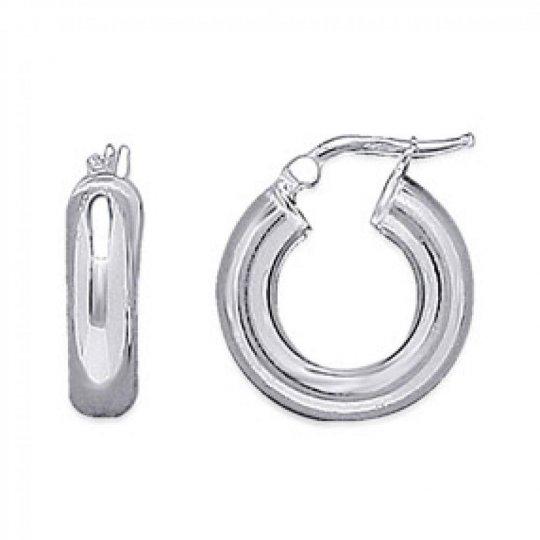 Hoop Earrings épaisses 5x20mm Argent Rhodié