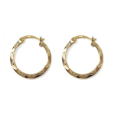 Hoop Earrings Martelées Gold plated 18k 20mm