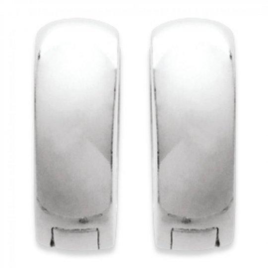 Petites Hoop Earrings Argent larges 5x14mm  - Fermoir à...