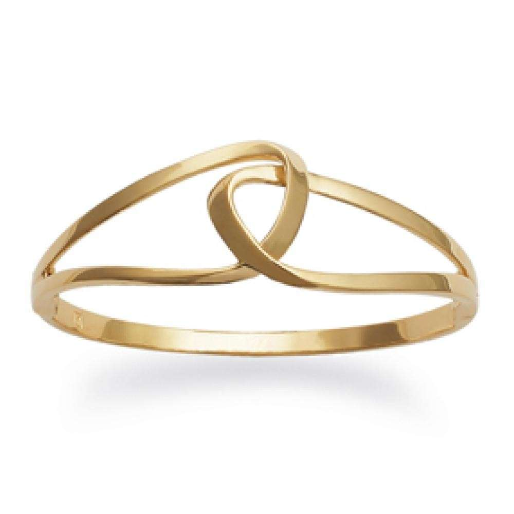 Bangle boucles Infinite enlacées Gold plated 18k - Women - 62mm