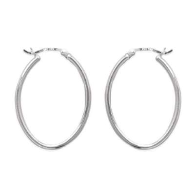 Hoop Earrings Ovales Argent - 30mm - Women