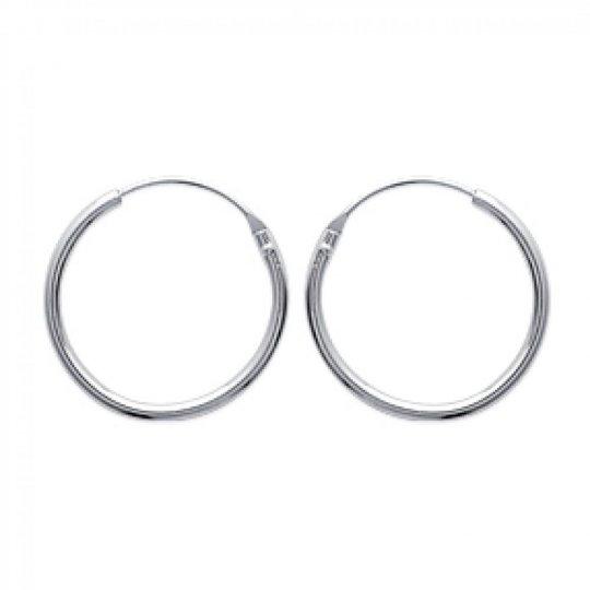 Hoop Earrings Argent Traditionnelles 20mm - Women