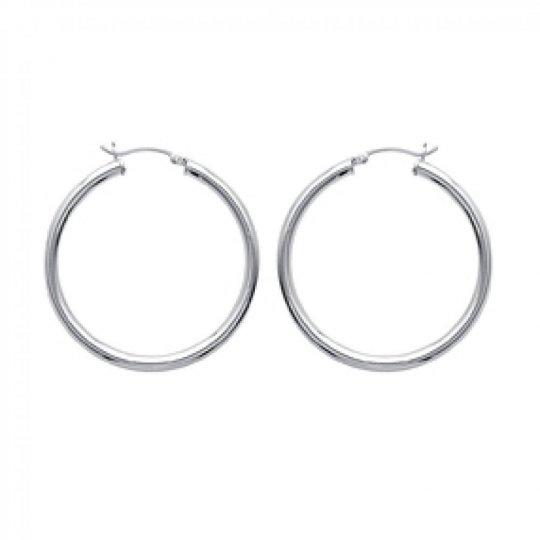 Hoop Earrings épaisses Argent 40mm - Women