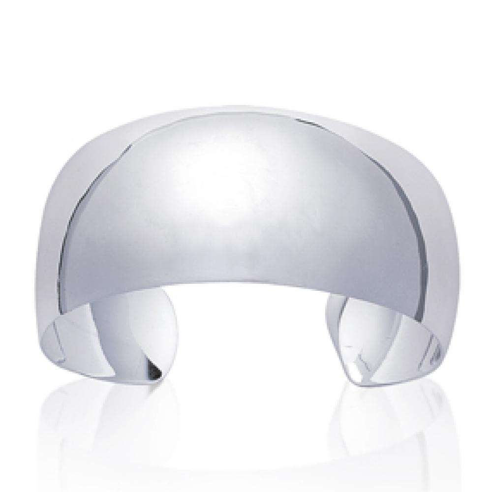 Grosse manchette a cupola Argento Sterling 925 - Donna - 60mm