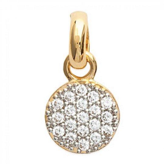 Ciondolo Médaillon Strass Placcato in oro 18k - Zirconium...