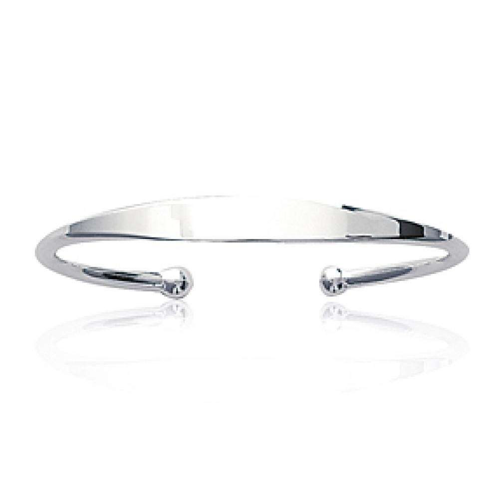 Bangle à graver Sterling Silver Engravable - for Children - 10mm