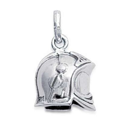 Pendants Pompier Argent Rhodié pour for Men Women