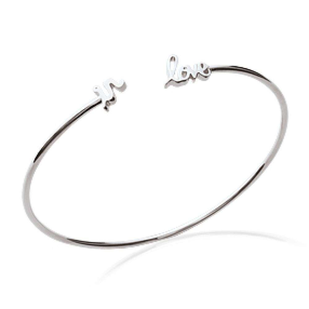 """Armband """"in love"""" folle amoureuse 925 Sterling Silber rhodiniert - 56mm"""