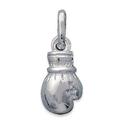 Pendants Gant de Boxe Argent Rhodié pour for Men Women