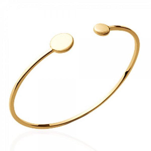 Bracciale Bangle petits ronds Da Incidere Placcato in oro 18k - Donna - 56mm