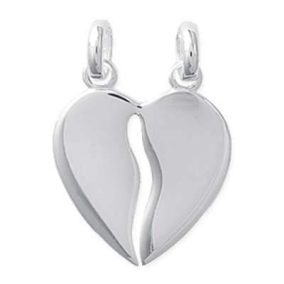 Heart  sécable Pendants Argent Engravable - Women