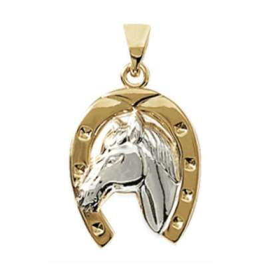 Anhänger Fer à cheval Glück bringen Vergoldet 18k -...