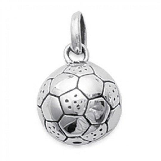 Anhänger Ballon de Foot Argent Rhodié pour Männer Damen