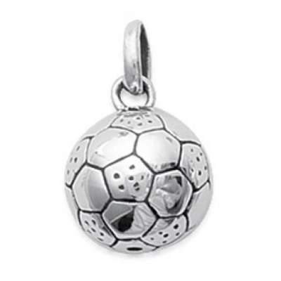 Pendants Ballon de Foot Argent Rhodié pour for Men Women