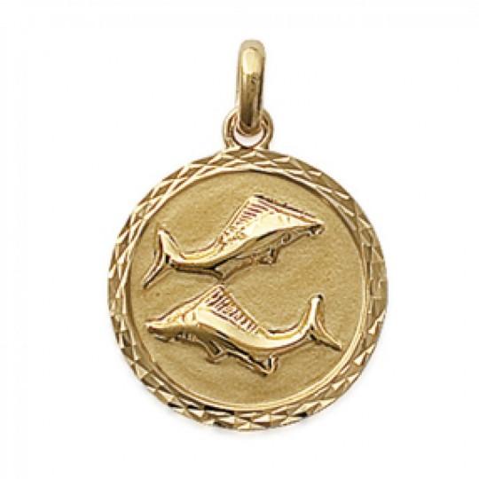 Pendants PISCES Gold plated 18k pour for Men Women