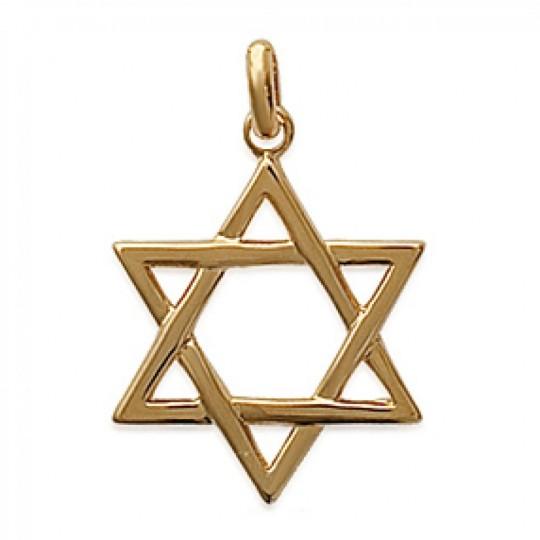 Colgante Étoile de David Chapado en Oro 18K pour Hombre...