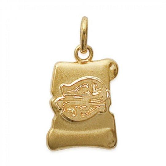 Pendants PISCES Parchemin Gold plated 18k pour for Men Women