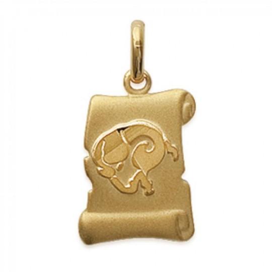 Pendants ARIES Parchemin Gold plated 18k pour for Men Women