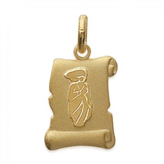 Pendants VIRGO Parchemin Gold plated 18k pour for Men Women