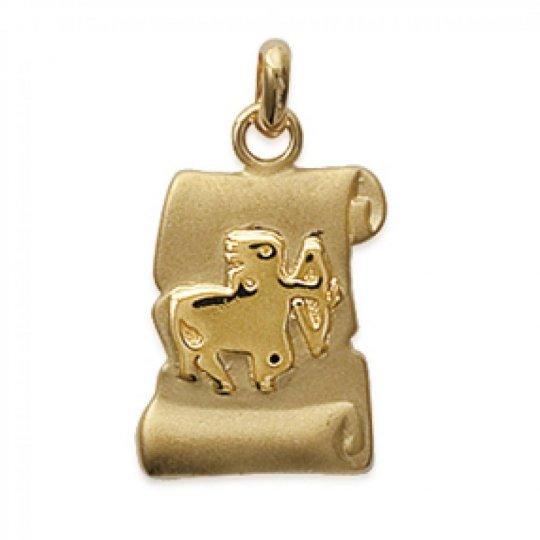 Pendants Parchemin SAGITTARIUS Gold plated 18k pour for...