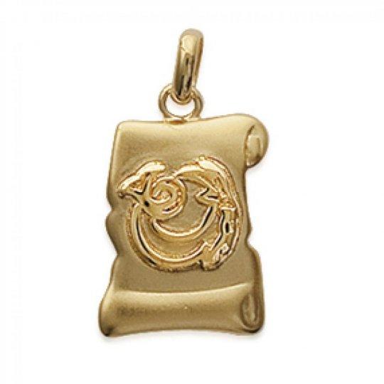 Pendants Parchemin CAPRICORN Gold plated 18k pour for Men...