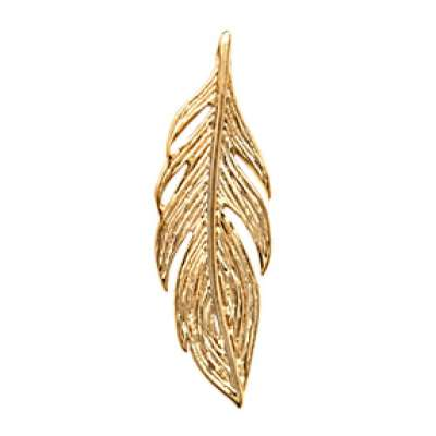 Pendants Feather Gold plated 18k - Women