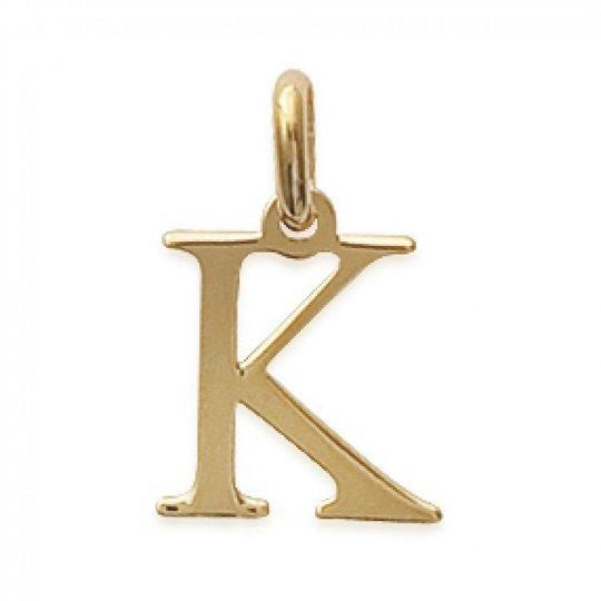 Pendentif Lettre K Plaqué Or pour Homme Femme