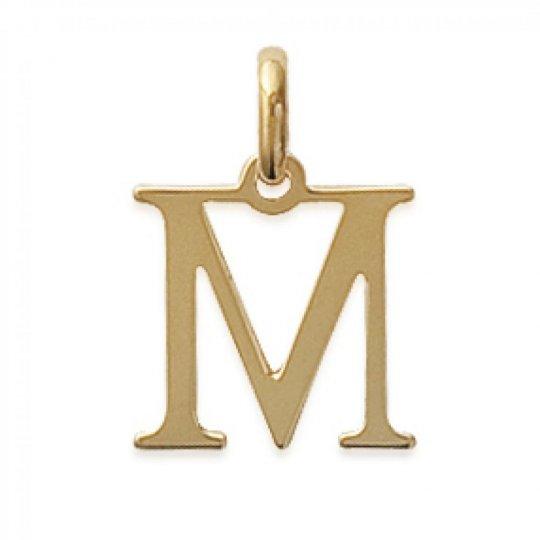 Ciondolo Lettre M Placcato in oro 18k pour Uomo Donna